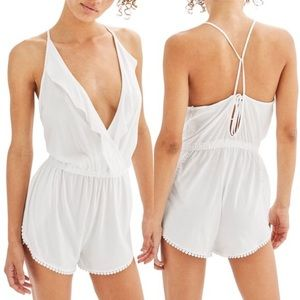 Jersey Wrap Cover-Up Romper - TopShop